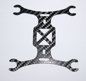 Phoenix Flight Gear 110mm Carbon Fiber Micro-H Frame 7mm Motor Edition V2 Frame ONLY