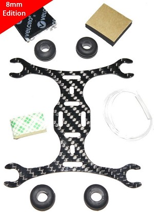 Phoenix Flight Gear 110mm Carbon Fiber Micro-H Frame 8mm Motor Edition